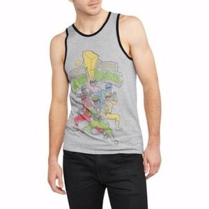NEW Power Rangers Graphic Ringer Tank Top